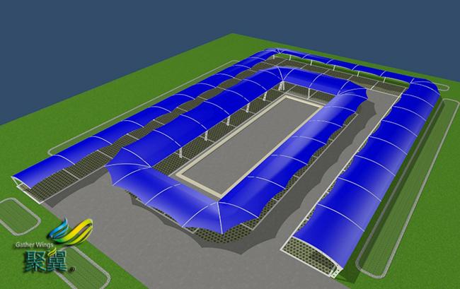 膜结构车棚雨棚代理加盟、代销、代加工