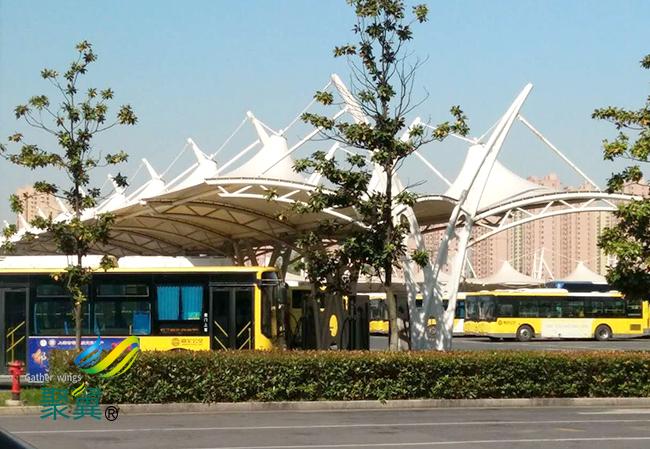公交站膜结构车棚建筑功能要求|安全性好