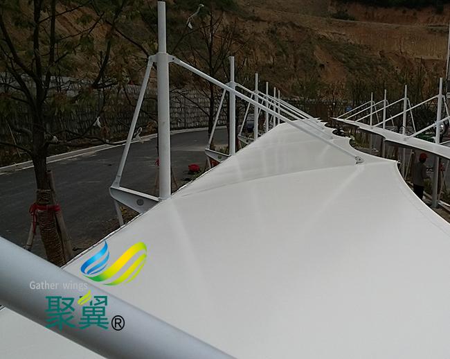 膜结构车棚传统建筑外新选择|膜结构车棚大跨度