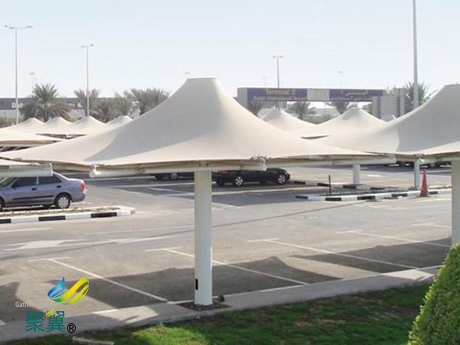 膜结构车棚修复改造|膜结构车棚停车棚