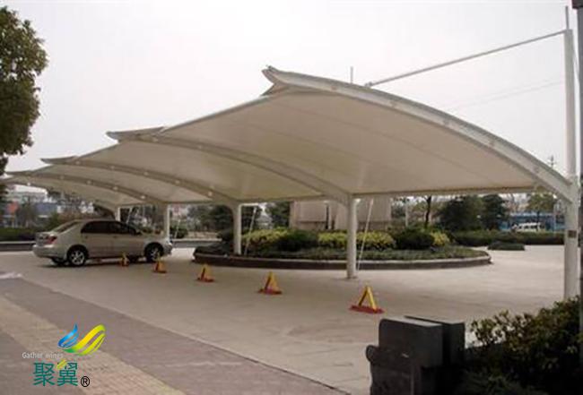 安装膜结构车棚具体方法|膜结构车棚张拉成型