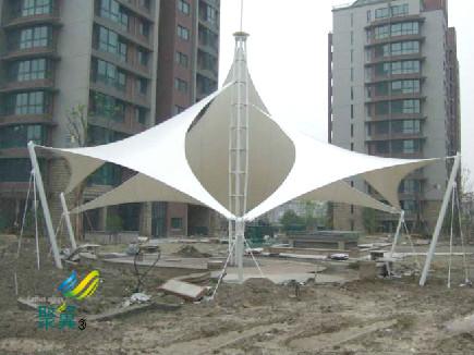 张拉膜景观膜结构大跨度建筑 景观棚城市标志