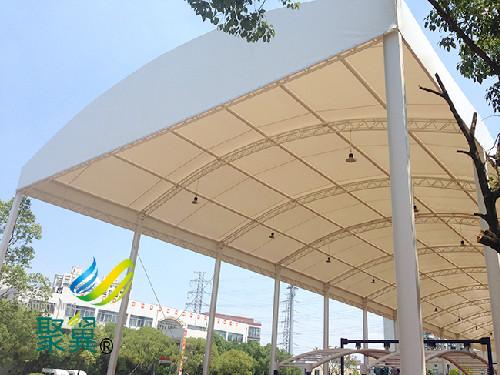 浦东公安学校膜结构特点|膜结构节点设计