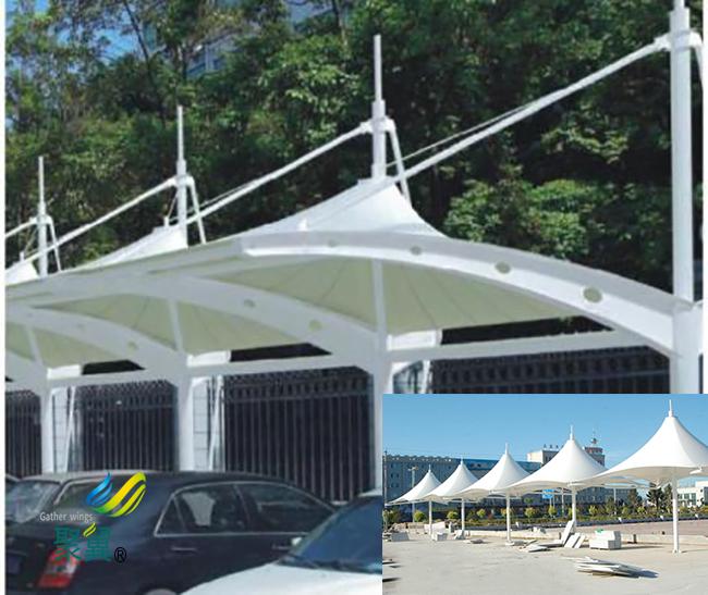 膜结构车棚连接加固|膜结构车棚公司