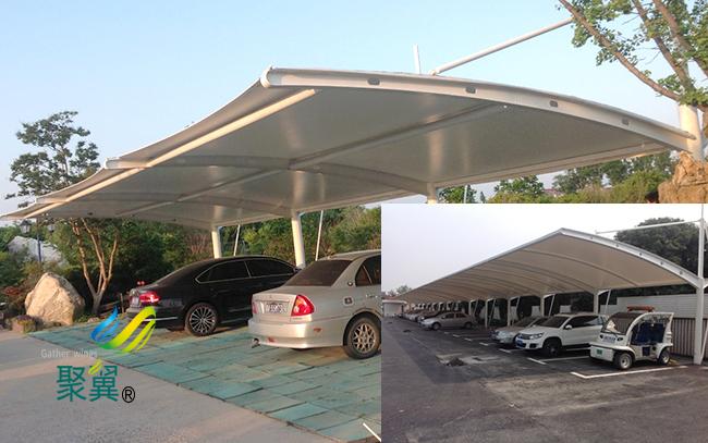 膜结构车棚集中优势|膜结构车棚结构类型