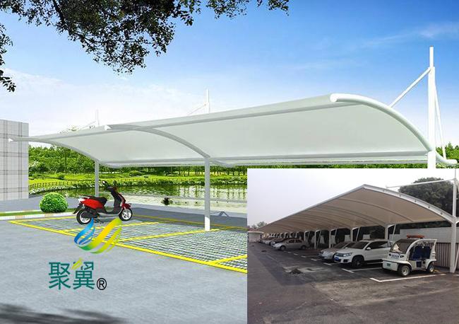 膜结构车棚大跨度|膜结构车棚施工组织设计