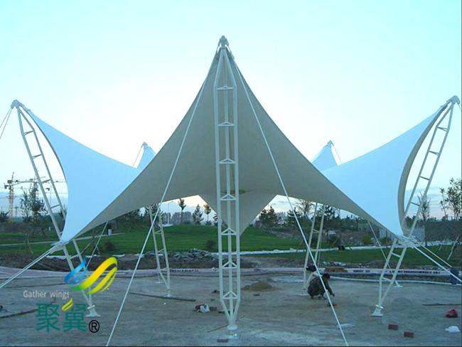 膜结构景观棚优势|膜结构景观棚造价合理