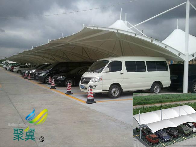 膜结构车棚膜材裁剪方法|膜结构车棚建筑风格模式