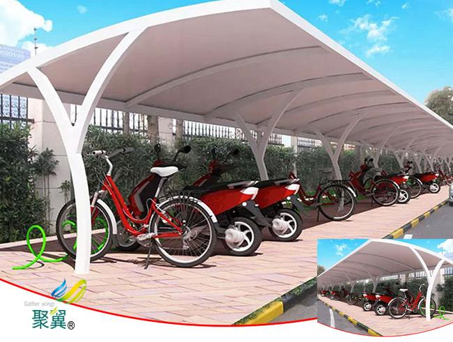 膜结构车棚汽车棚钢膜结构停车棚厂家供应直销