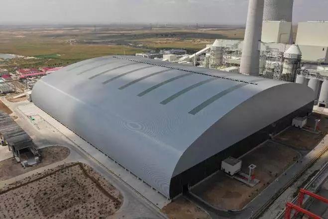 大跨度煤棚设计施工软膜煤棚材料防火B1级
