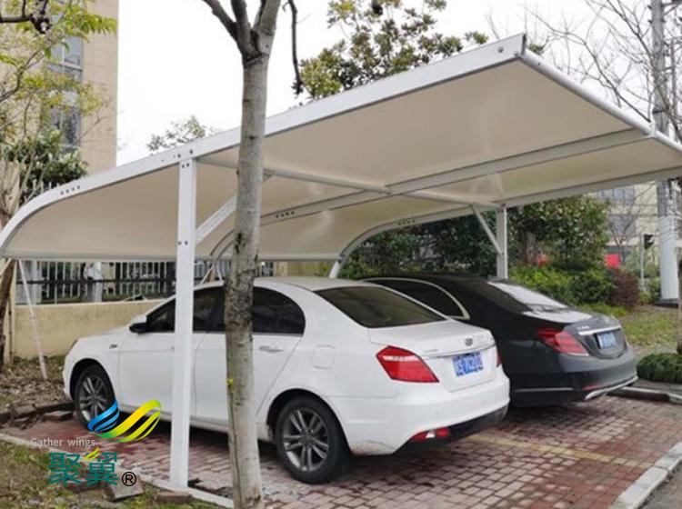 膜结构车棚汽车棚景观棚车棚定做