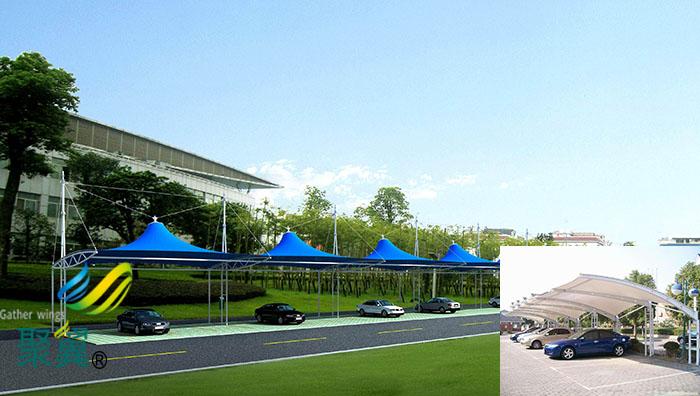 杭州膜结构自行停车棚价格安装