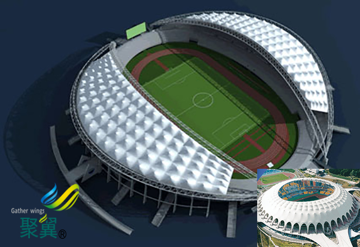 河南膜结构水立方体育场馆看台方案设备