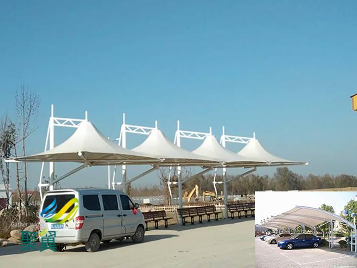 苏州钢膜结构充电桩自行汽停车棚安装厂家