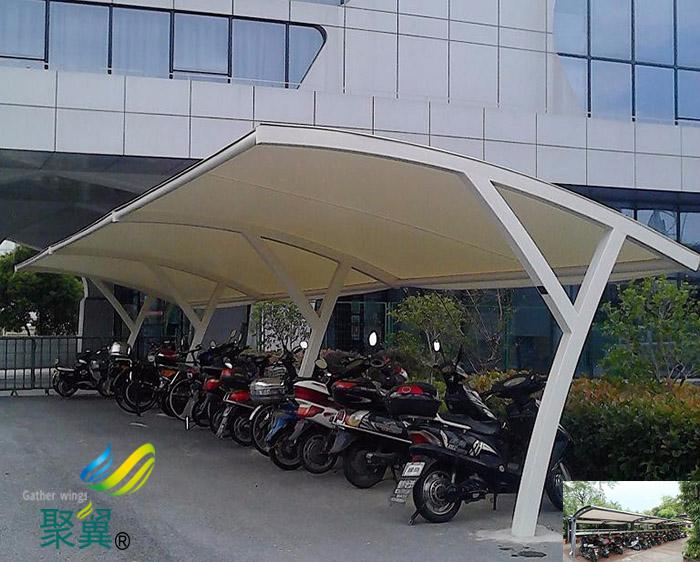 绍兴工地非机动车停车棚尺寸效果图施工方案