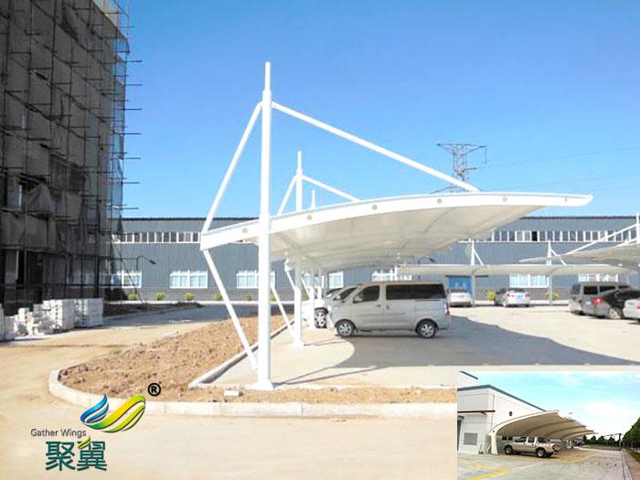 杭州膜结构停汽自行车车棚价格厂家公司安装