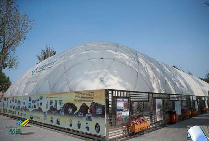 北京著名双层充气张拉索膜结构建筑实例价格厂家实例分析
