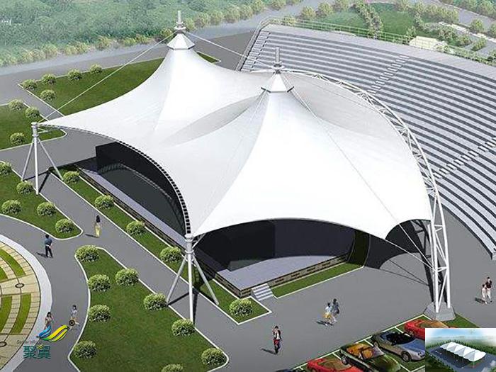 江苏著名充气张拉膜结构建筑工程小品案例分析