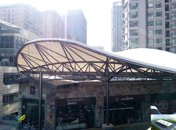 武汉张拉膜结构停汽车车棚景观定做公司安装