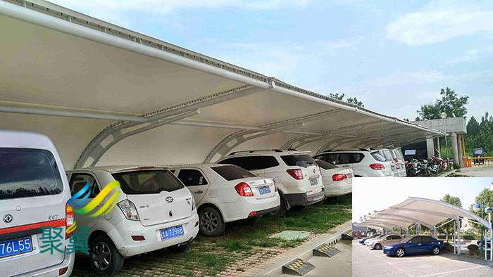 山东张拉钢膜结构定制停汽车充电桩车棚景观价格安装