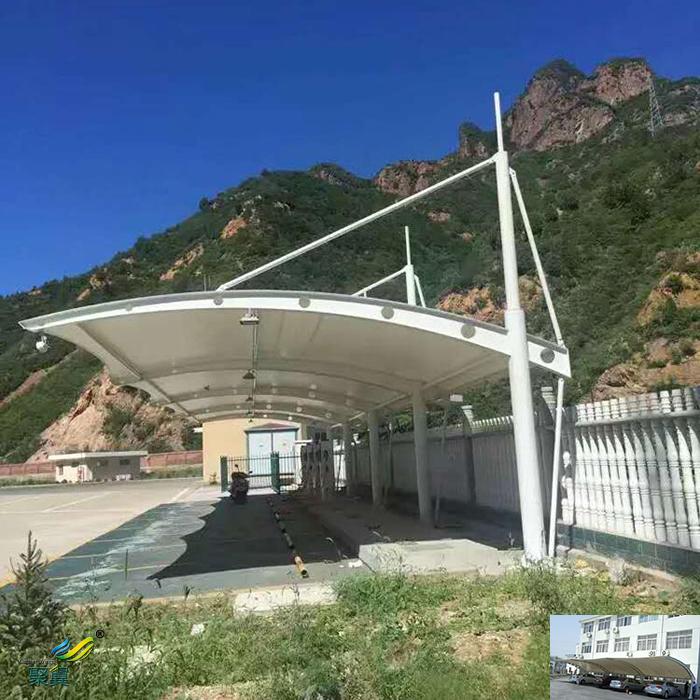 苏州膜结构自行汽车停车棚工程图纸厂家