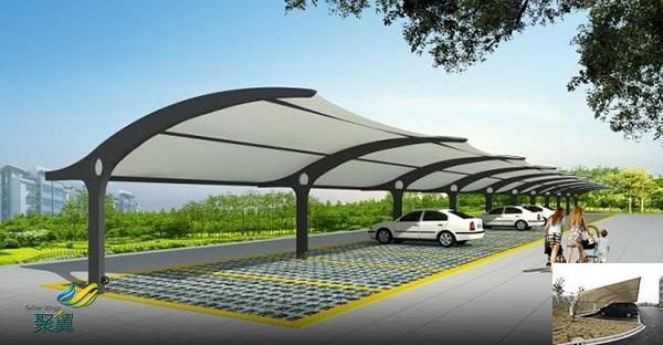 苏州钢膜结构自行汽车停车棚景观定制安装厂家工程价格