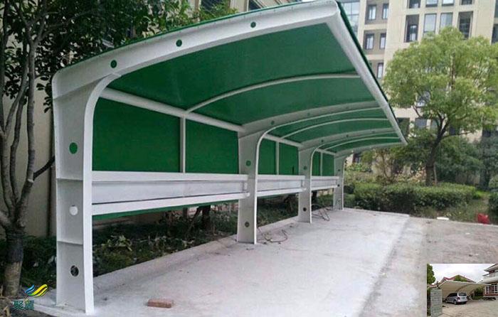 苏州钢膜结构工厂自行车汽车棚定制厂家安装