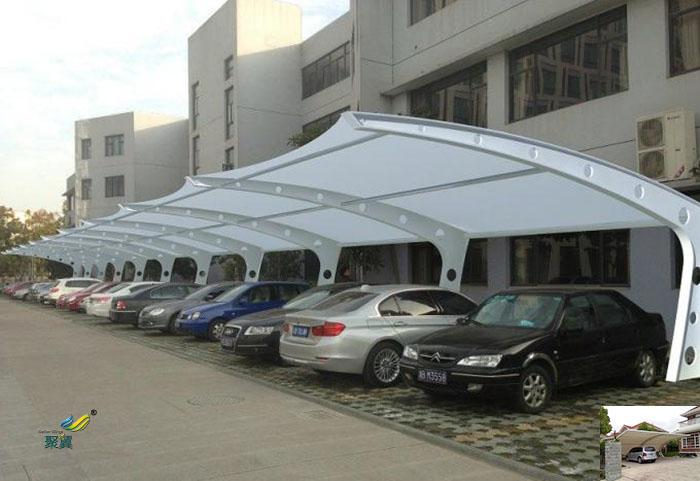 山东膜结构张拉膜停车棚雨棚景观工程公司设计