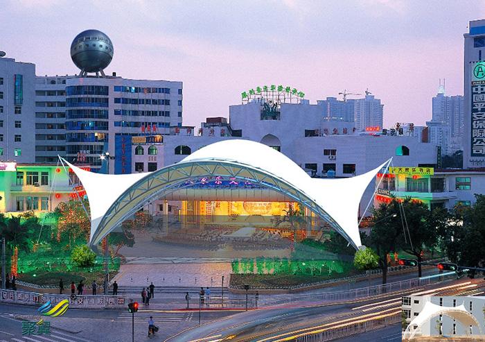 杭州膜结构体育公司场馆看台效果设计效果图生产厂家