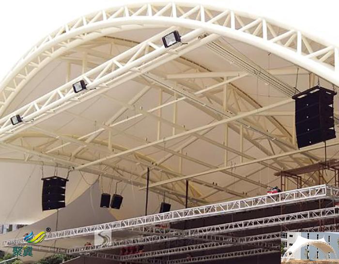 信阳搭建演出屋顶舞台社区膜结构雨棚遮阳篷设计图工程