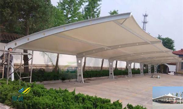 苏州钢膜结构自行车车棚定制公司设计方案图