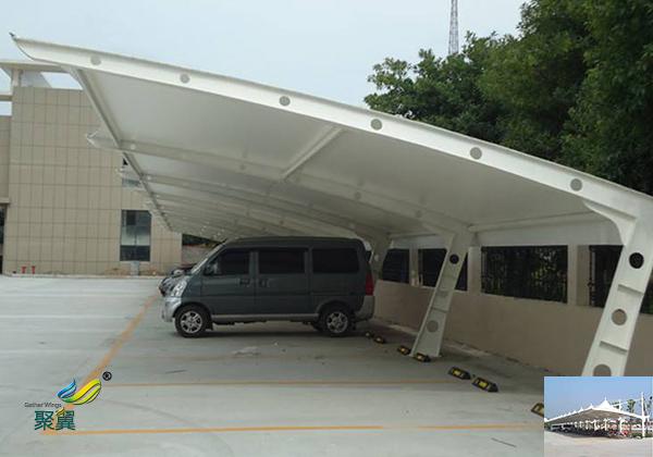 宁波安装膜结构汽车停车棚景观棚工程图纸哪家好