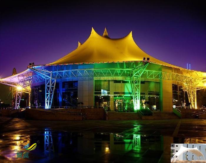 重庆屋顶社区舞台膜结构设计效果图生产厂家
