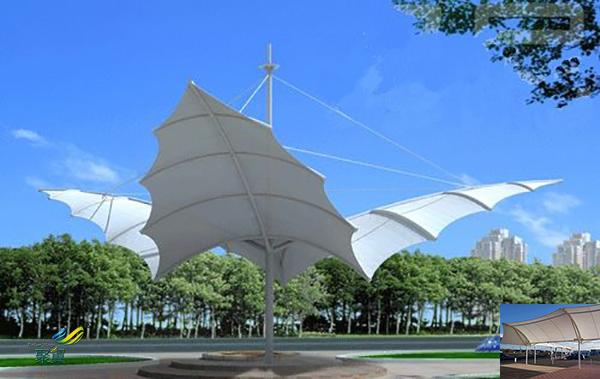 郑州膜结构室内张拉膜景观棚规格安装施工方案多少一平米
