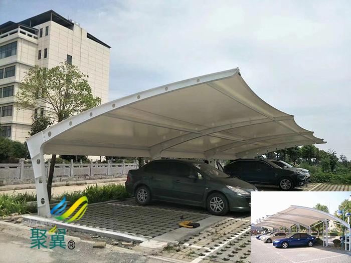 武汉膜结构汽车停充电桩车棚景观工程报价公司