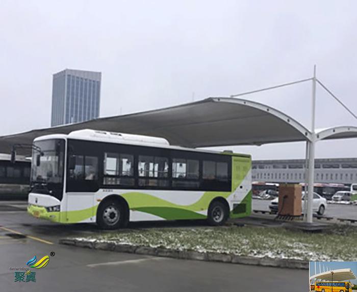 宁波户外景观膜结构大巴停车车棚生产厂家图纸