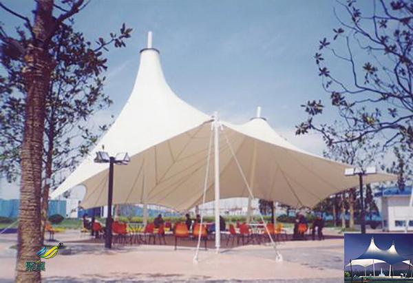山东膜结构景观张拉膜雨棚停车棚工程图片设计