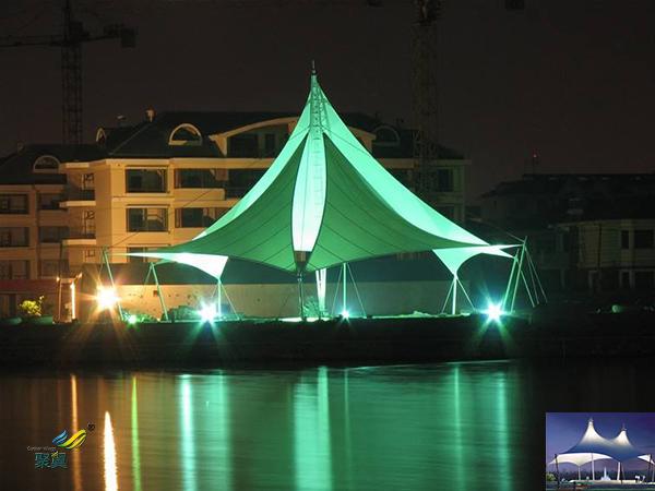 深圳膜结构景观张拉膜伞停车棚雨棚、景观小品公司工程设