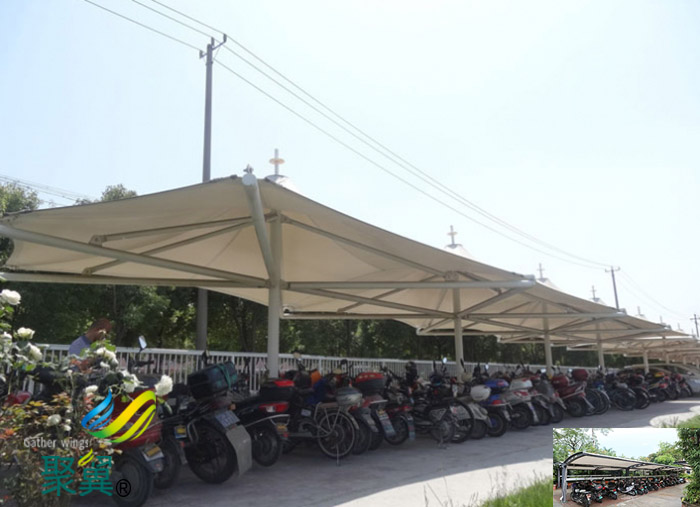 山东膜结构非机动定制充电桩停车棚景观价格公司