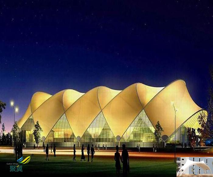 沈阳户外演出屋顶舞台膜结构雨棚厂家效果图