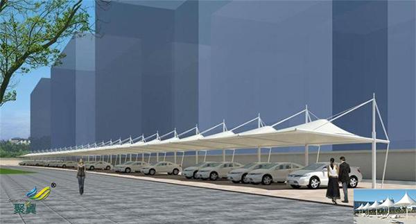 苏州钢膜结构定制自行充电桩停车棚景观厂家安装报价