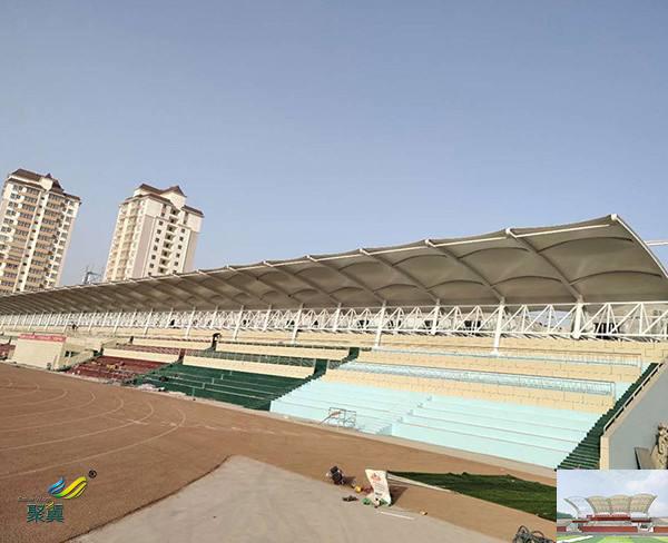 陕西省膜结构体育场馆中心看台球场膜防水尺寸施工