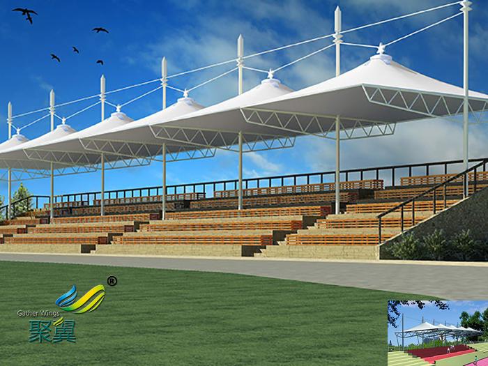 河南专业膜结构体育场馆看台厂家造型设备工程设计效果图