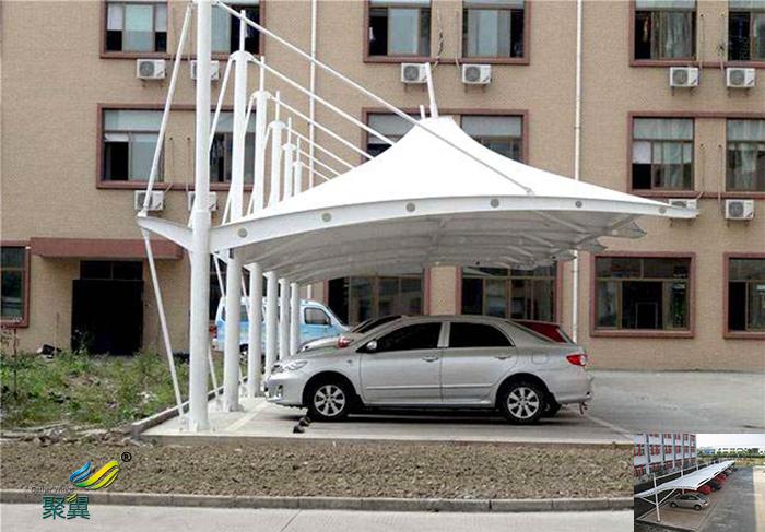 无锡小区膜结构定制充电桩汽车停棚景观报价工程安装