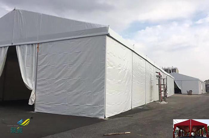 广州搭建膜结构车展临时仓库篷帐篷房制造生产厂家