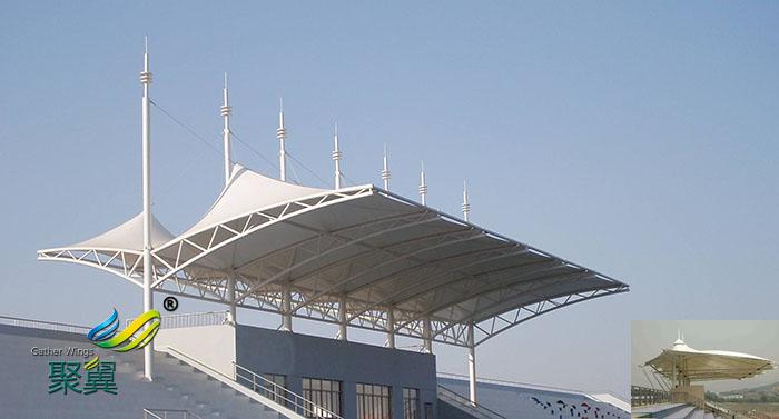 河南膜结构体育场馆看台找哪家公司生产供应平面图