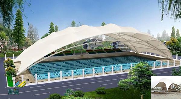 河南膜结构室内张拉膜景观棚规格材料效果图多少一平米安
