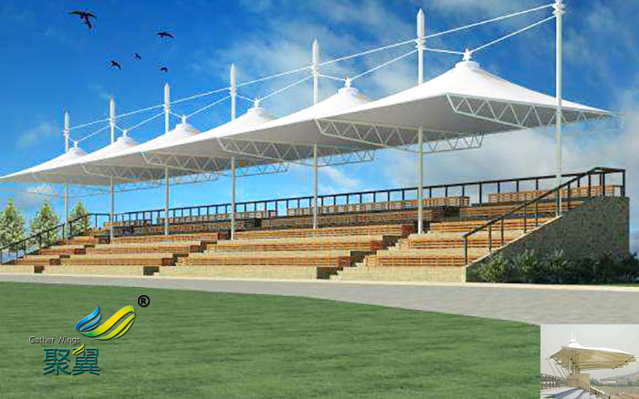 南京膜结构体育看台承包价格图片造型设备工程公司