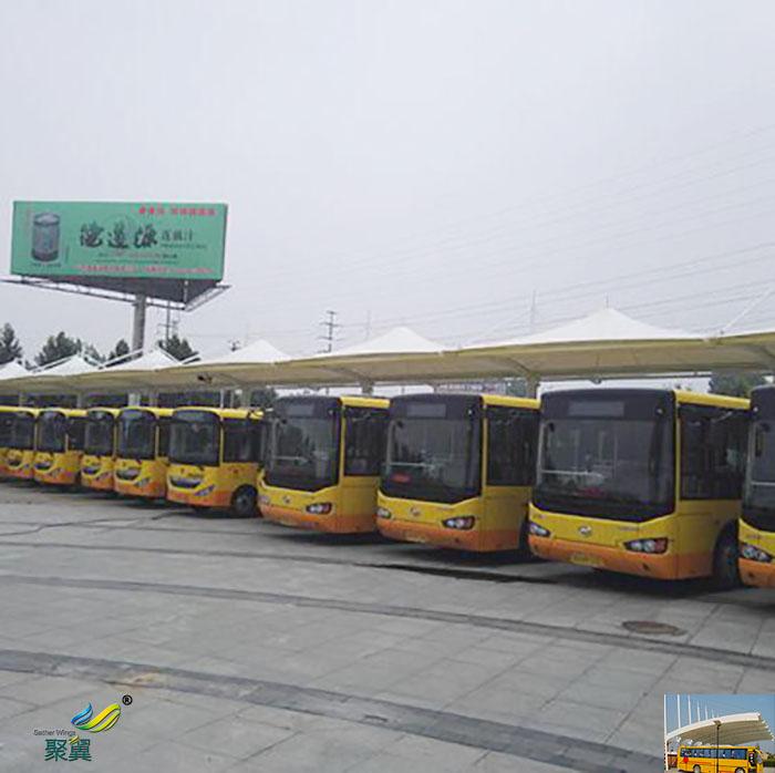 湖南景观膜结构大巴车电动停车棚厂家加工施工设计