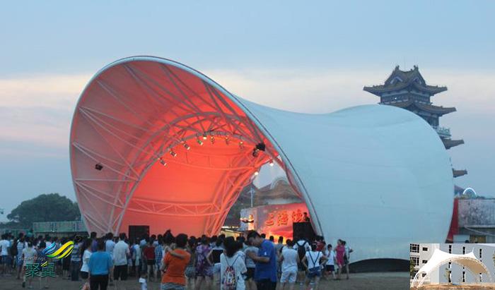 内蒙古社区表演屋顶舞台膜结构雨棚施工方案